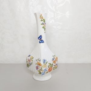 Vintage Aynsley Bud Vase Floral Butterfly China